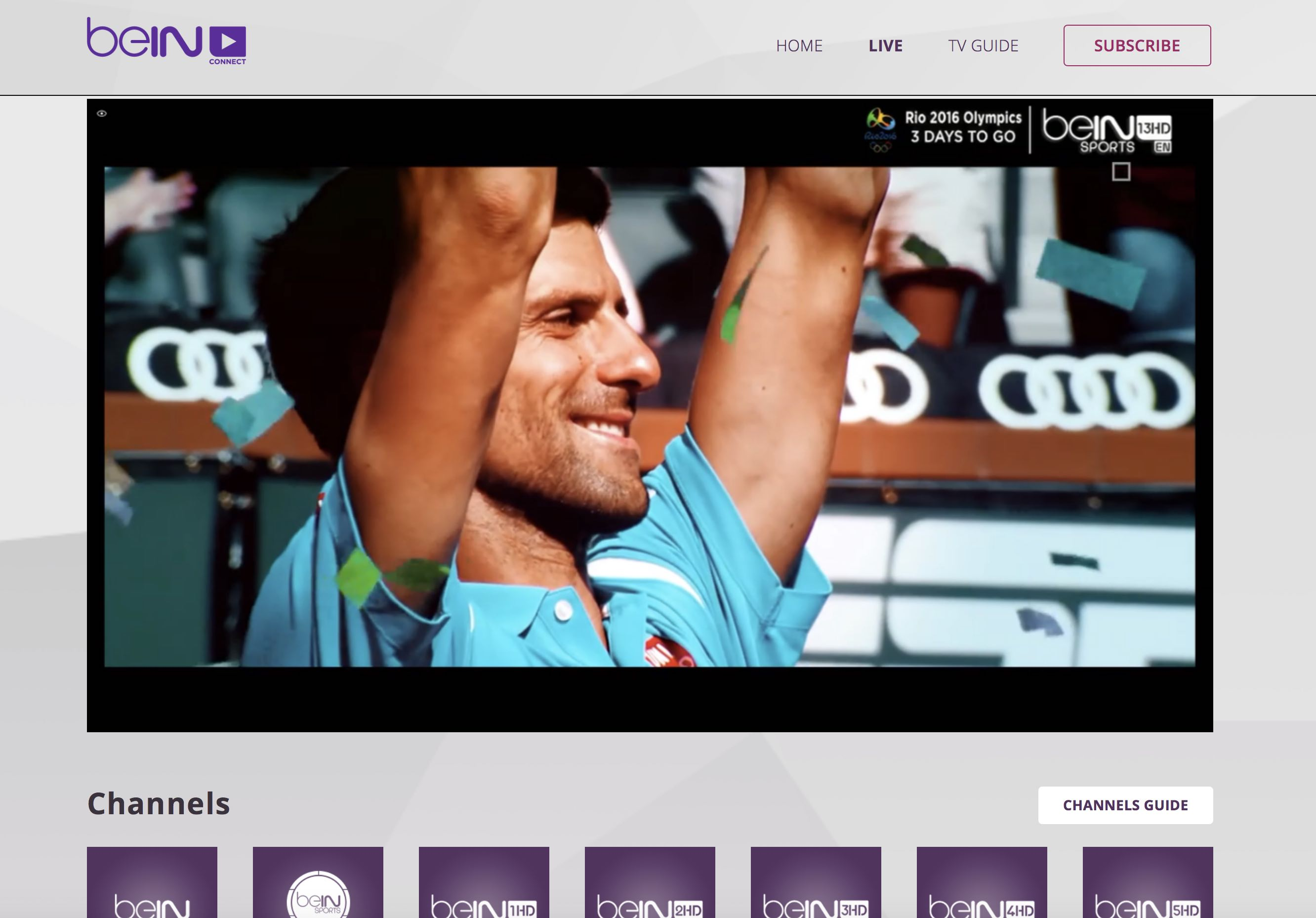 HD13 english channel unblocked beinsportsconnect Error 3222