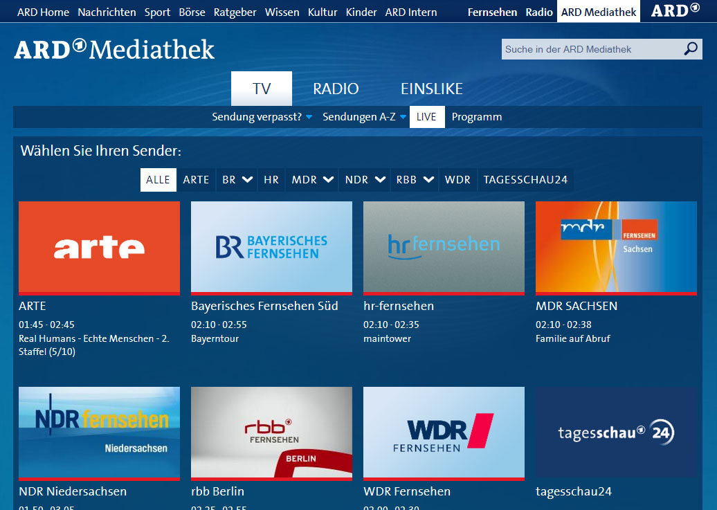 how to get german tv channels