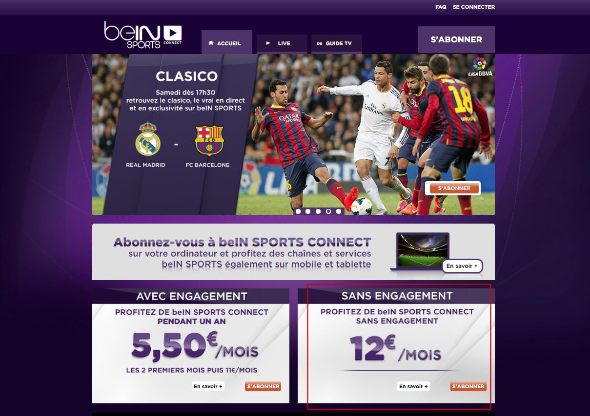 Unblock Bein Sports Connect France GeoBlocked error