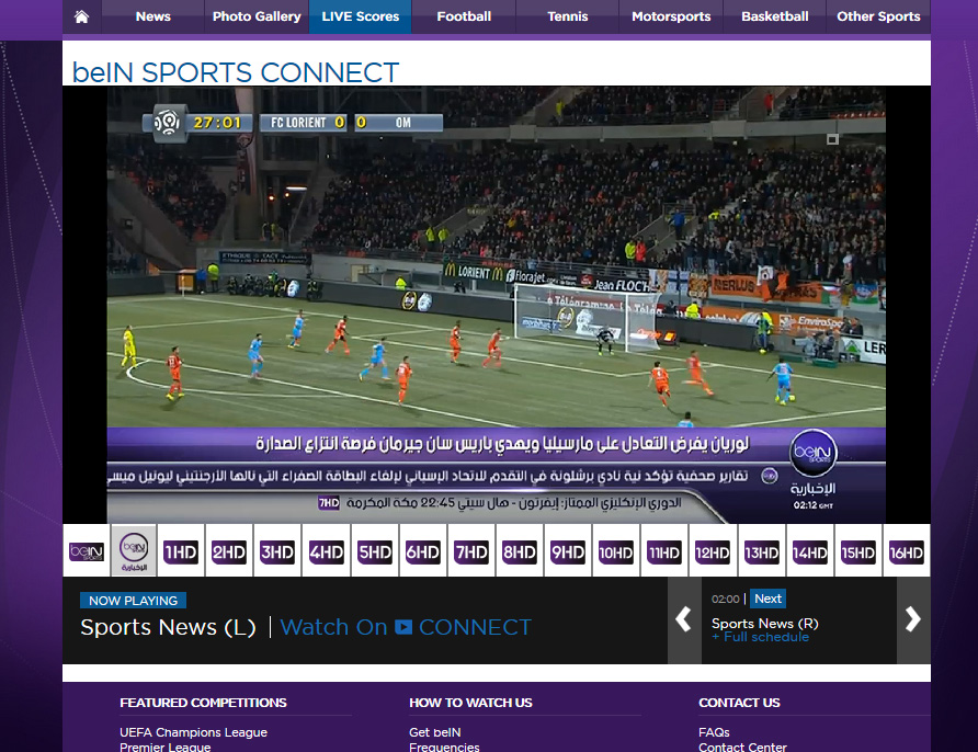 Unblock Bein Sports free - Watch Live World Cup 2014