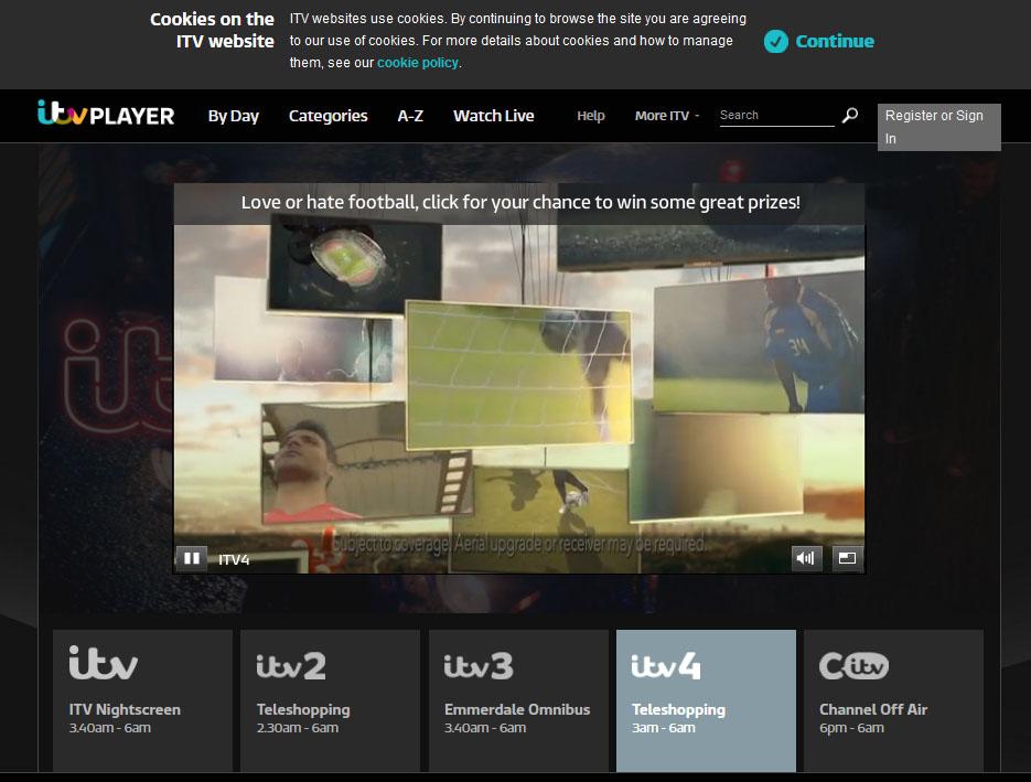 ITV 4 Live Streaming   DesiFree.TV