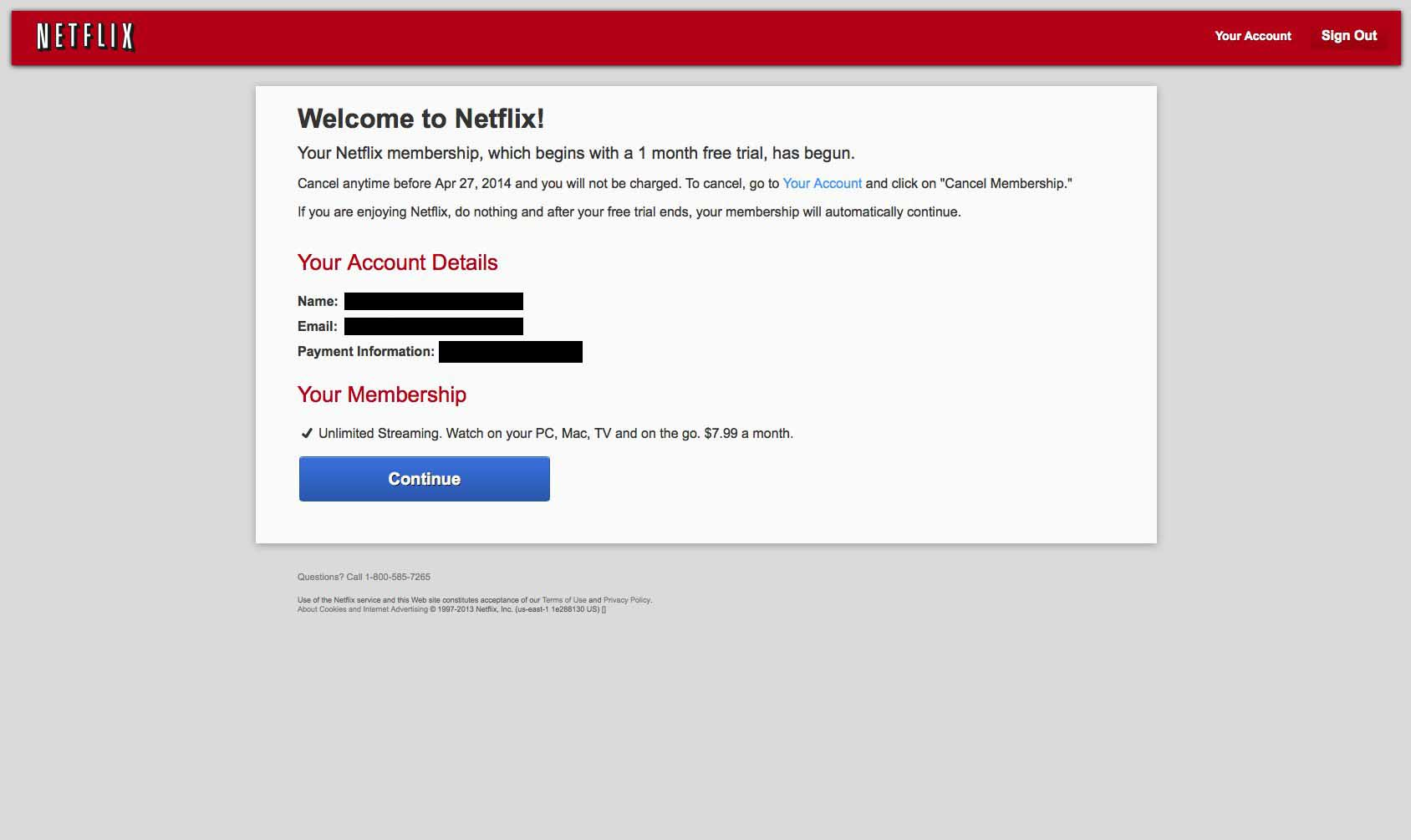 how to change account details on netflix