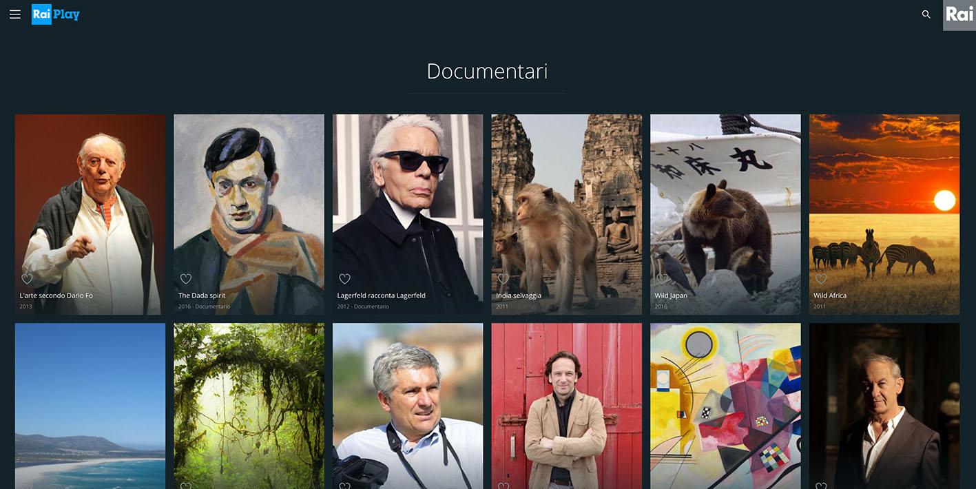RaiPlay dirette TV not availble - Rai Play free streaming online Documentaries