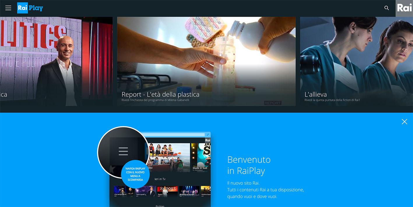 RaiPlay TV not availble - GeoBlocked