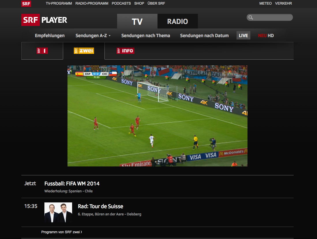 How to unblock and watch SRF live channels online outside