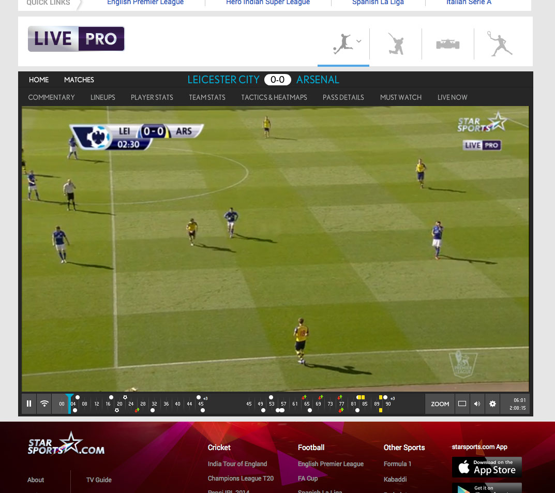 Watch Star Sports Live Player