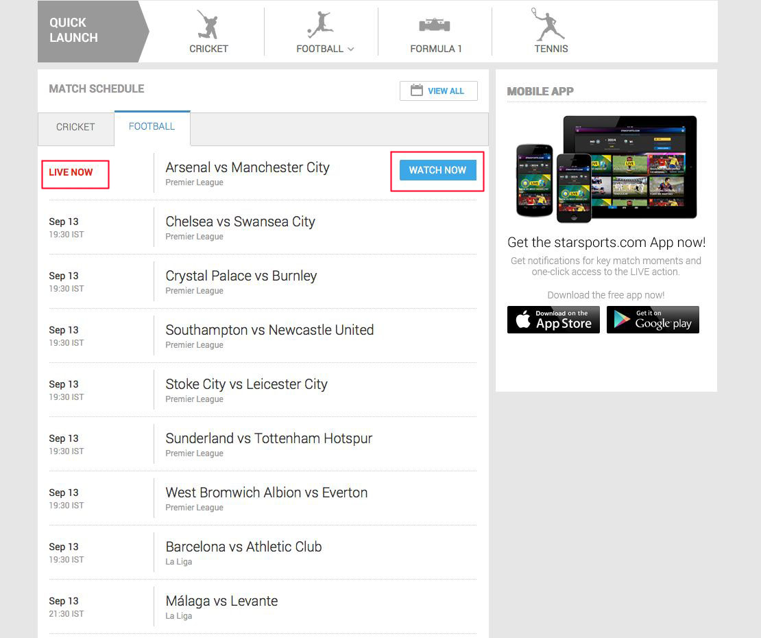 unblock Star Sports Live Player