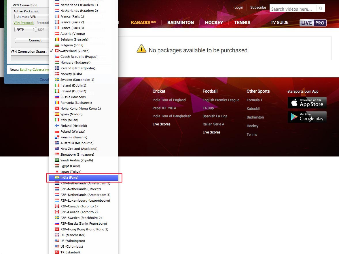 VPN to unblock Star Sports free