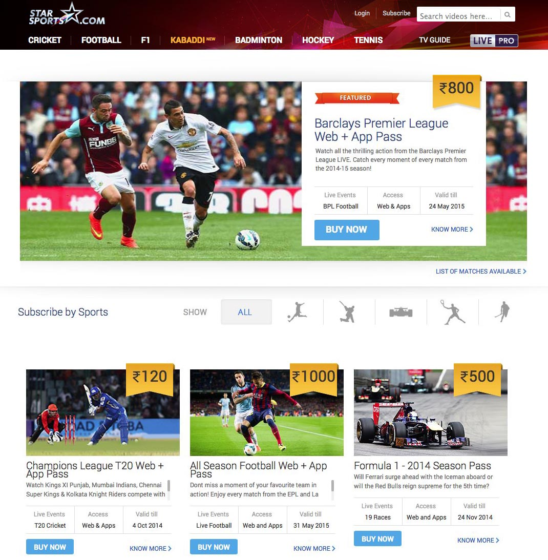 Star Sports unblocked