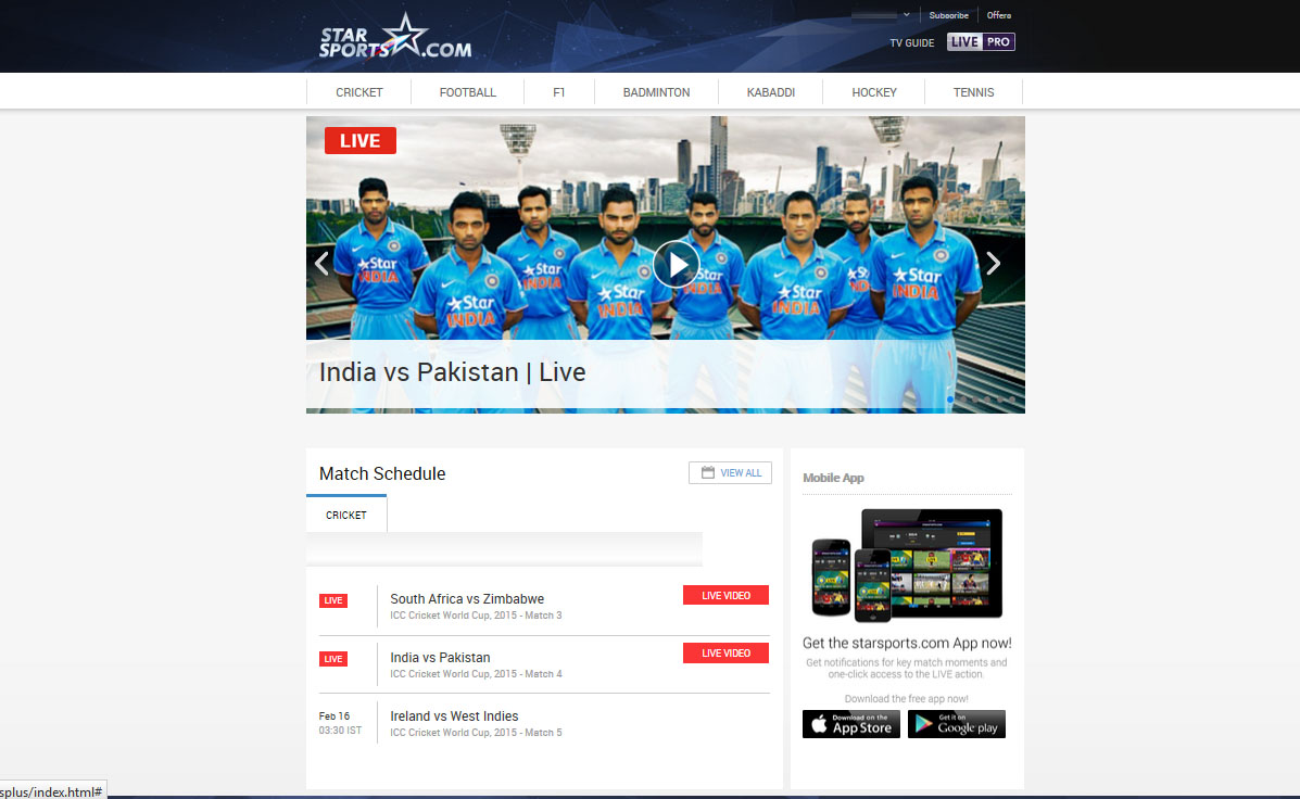 Watch Star Sports free - Cricket