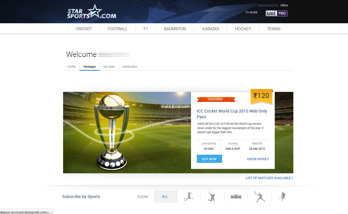 Star Sports packages free unblocked