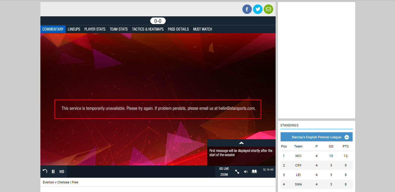 premier league live stream free - unblock Star Sports