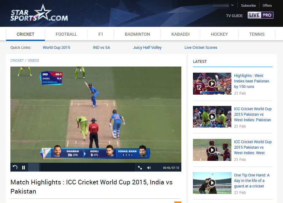 Watch Cricket Star Sports Live free