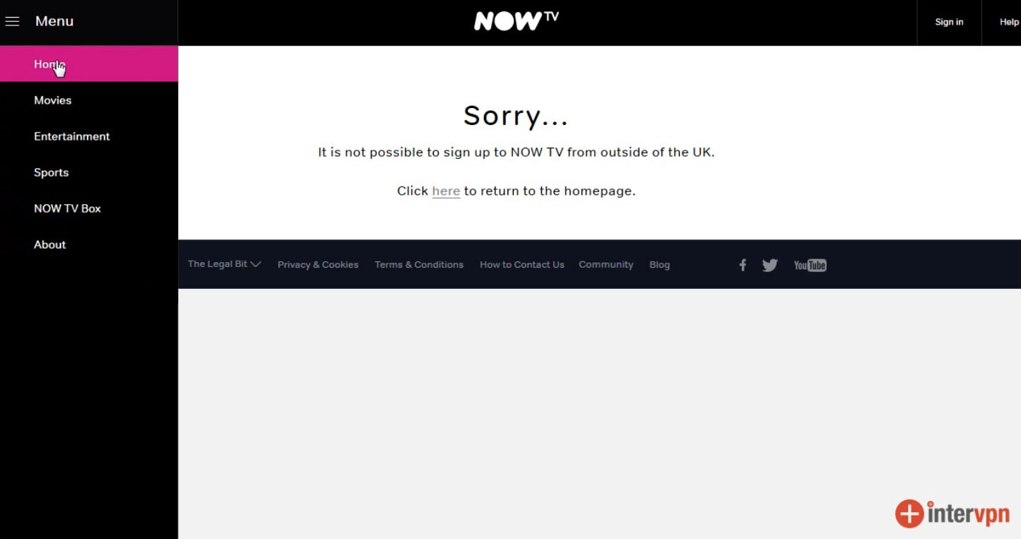 Watch NOW TV outside UK